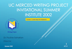 Writing Project 2002